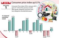 Consumer price index up 0.1%