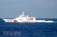 US voices concern about China's military drills in East Sea