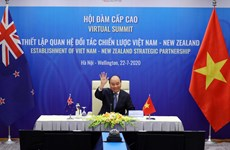 Vietnam, New Zealand's PMs hold virtual talks on bilateral strategic partnership