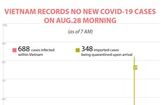No new COVID-19 cases reported on August 28 morning