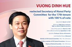 Vuong Dinh Hue re-elected Hanoi Party Committee Secretary
