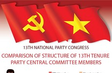 Comparison of structure of 13th tenure Party Central Committee members