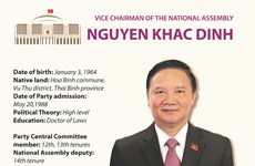 Nguyen Khac Dinh elected as Vice Chairman of National Assembly