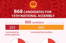 868 candidates for 15th National Assembly