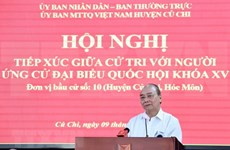 President Nguyen Xuan Phuc meets voters in Ho Chi Minh City
