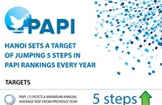Hanoi sets target of jumping 5 steps in PAPI rankings every year