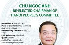 Chu Ngoc Anh re-elected Chairman of Hanoi People's Committee