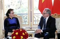 Vietnamese, French top legislators hold talks