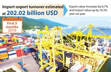 Import-export turnover estimated at 202.02 billion USD