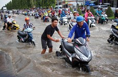 Southern metropolises submerged by high tide