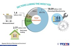FDI reaches 26.16 billion USD