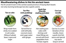 Mouthwatering dishes in Hoi An ancient town