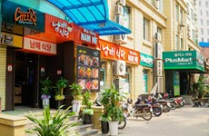 'Korean town' in Hanoi less busy due to fears of COVID-19
