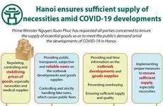 Hanoi ensures sufficient supply of necessities amid COVID-19 developments