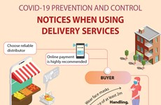 Notices when using delivery services amid COVID-19