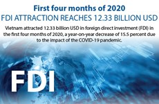 First 4 months of 2020: FDI attraction reaches 12.33 billion USD