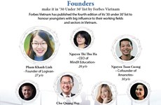 Founders make it in '30 Under 30' list by Forbes Vietnam