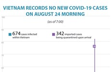Vietnam records no new COVID-19 cases on August 24 morning