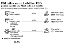 FDI inflow worth 1.6 billion USD poured into Ho Chi Minh City in 5 months