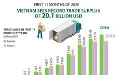 Vietnam sees record trade surplus of 20.1 billion USD