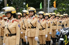 Traffic police launches campaign to ensure safety for 13th National Party Congress