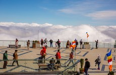 Sea of clouds on Vietnam's 'rooftop'