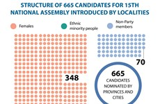665 candidates for 15th National Assembly nominated by localities