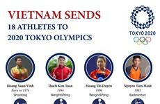 Vietnam sends 18 athletes to 2020 Tokyo Olympics
