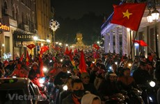 Celebrations in Hanoi as Vietnam advance to quarter-finals