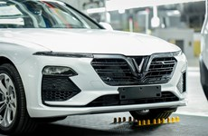 VinFast tests its first 155 Lux cars abroad