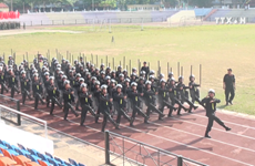 Rehearsal for Dien Bien Phu victory grand ceremony