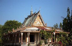 Famous Khmer pagoda on Vietnam-Cambodia border area