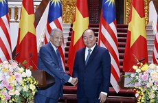 Vietnamese, Malaysian PMs attend int'l press conference