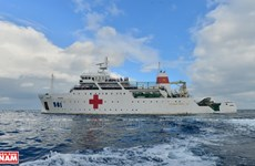 A mobile hospital at sea