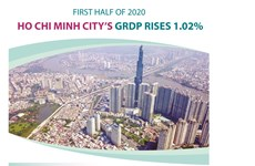HCM City GRDP rises 1.02% in H1