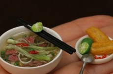 Young artist makes tiny Vietnamese food