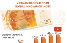 Vietnam ranks 42nd in Global Innovation Index