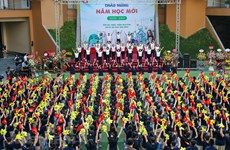 Hanoi's pupils attend special new school year ceremony