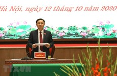 Politburo member re-elected Hanoi Party Committee Secretary