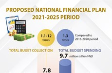 Proposed national financial plan for 2021-2025 period