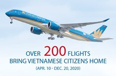 Over 200 flights bring Vietnamese citizens home
