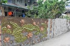 Unique ceramic streets in Lien Mac village