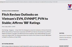 Fitch Ratings upgrades PetroVietnam's outlook to 'positive'