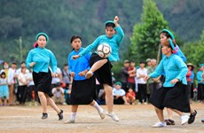 Unique ethnic women's football tournament