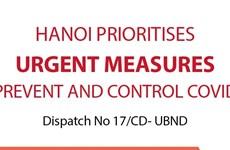 Hanoi prioritises urgent measures to prevent and control COVID-19