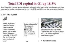 Total FDI capital in Q1 up 18.5%