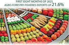 Agro-forestry-fisheries export value up 21.6 percent