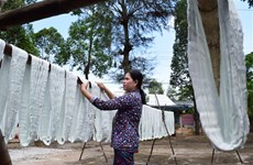 Revival of scarf weaving village in Dong Thap