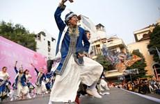 Yosakoi dance on focus at cherry blossom festival
