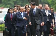 Gov't leader welcomes Netherlands PM